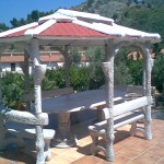 ART. GA-02 gazebo ovale edera  mis. tetto 3,70x2,70  base  3,40x2,40
